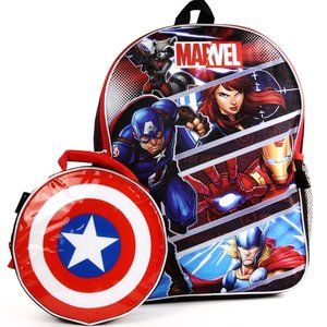 """The Avengers 16"""" Backpack W/ Lunch Bag"""